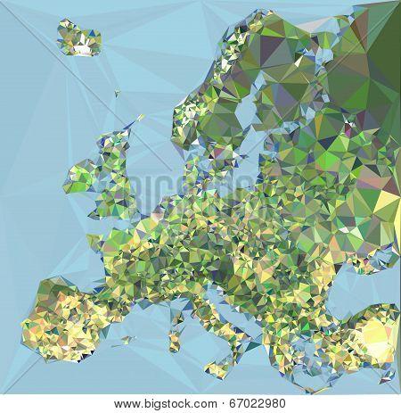 Polygonal Europa Map
