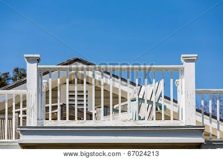 Beach Chair And Balcony Needing Paint