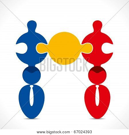 business people relation concept vector