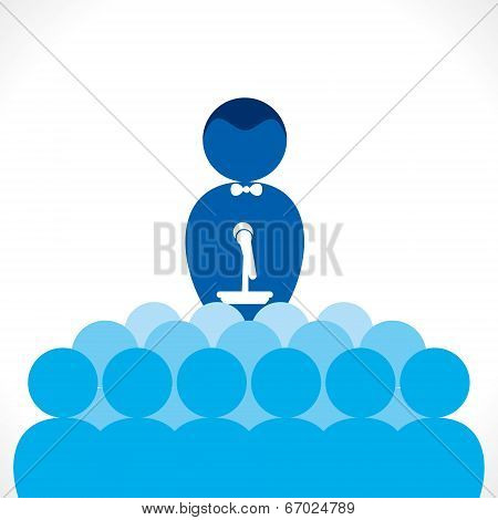 leader, tutor or business speaker men concept vector