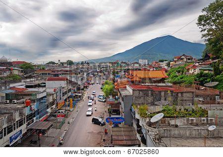 Bukittinggi And Mount Singgalangand. Sumatra Island. Indonesia