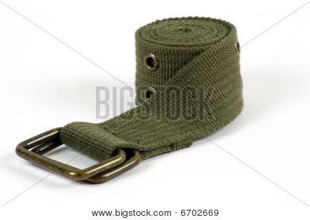 Green Cloth Belt