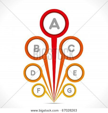 creative round design info-graphics background vector