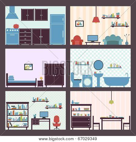 Interiors set flat