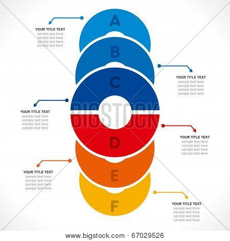 creative colorful circle info-graphics design concept vector
