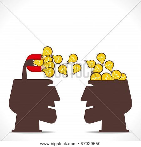 men attract new idea concept vector