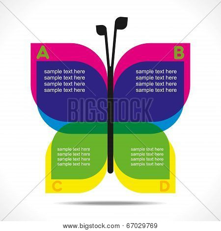 creative butterfly info-graphics design concept vector