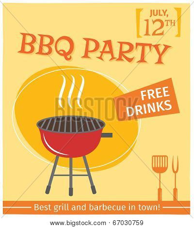 Bbq grill poster