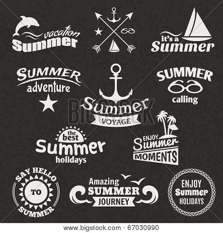 Summer element label