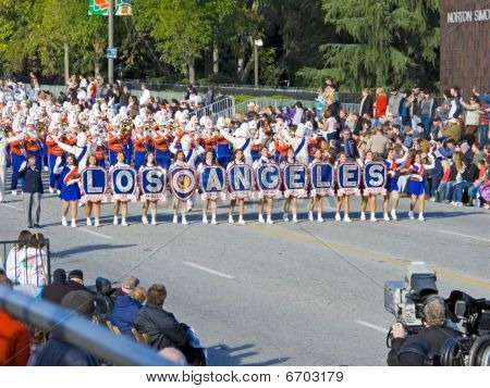 The Los Angeles Unified School District Marching Band Proudly Preformed In The 121St Tournament Of R