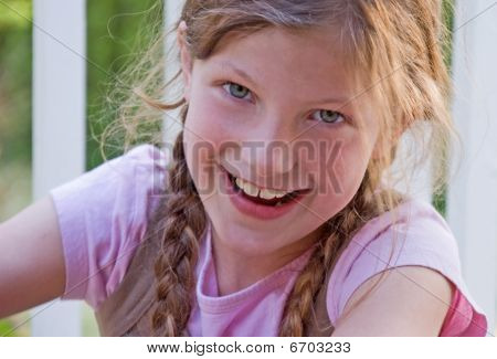 Pretty Smilng 8 Year Old Girl