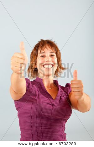 Both Thumbs Up