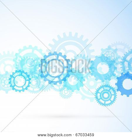 Gear Contemporary Mechanical Background
