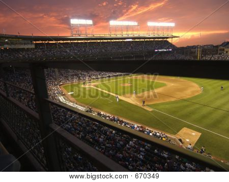 Cubs Baseball And Stadium
