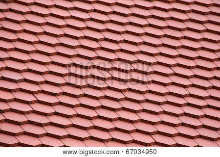 Red Tiles Roof For Background