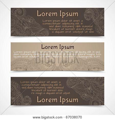 Ornamental banners horizontal