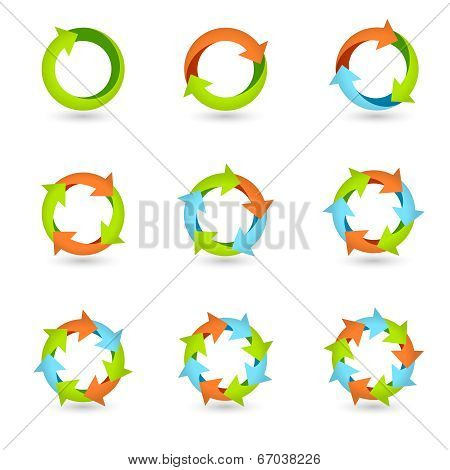 Circle Arrow Icons