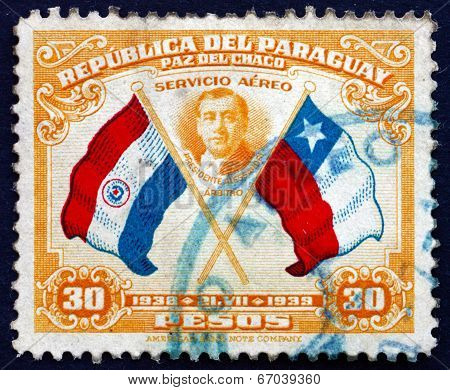 Postage Stamp Paraguay 1939 President Arturo Alessandri, Chile