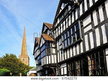 Timbered buildings, Ledbury.
