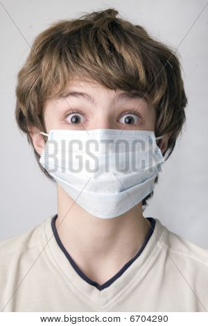 boy with the protective  mask