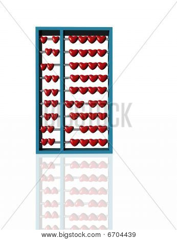 Abacus with Hearts