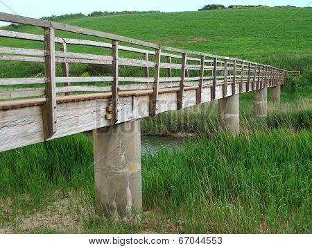 Rural Bridge River Landscape