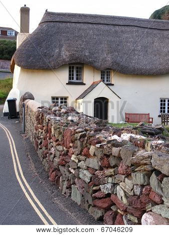 Thatched Cottage And Wall