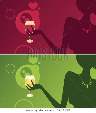 Elegant Girl - Wine