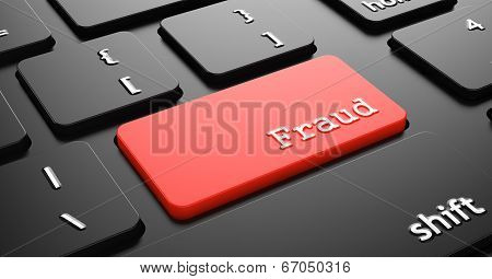 Fraud on Red Keyboard Button.