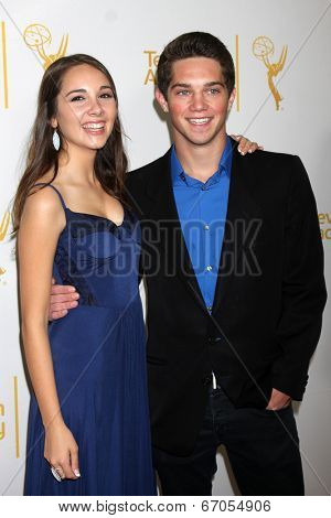 LOS ANGELES - JUN 19:  Haley Pullos, Jimmy Deshler at the ATAS Daytime Emmy Nominees Reception at the London Hotel on June 19, 2014 in West Hollywood, CA