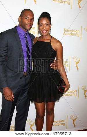 LOS ANGELES - JUN 19:  Lawrence Saint-Victor, Shay Flake at the ATAS Daytime Emmy Nominees Reception at the London Hotel on June 19, 2014 in West Hollywood, CA