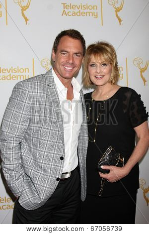 LOS ANGELES - JUN 19:  Mark Steines, Christina Ferrare at the ATAS Daytime Emmy Nominees Reception at the London Hotel on June 19, 2014 in West Hollywood, CA