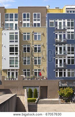 Modern Condominiums In Tacoma Washington.