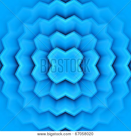Abstract Vector Frame With Blue Leaves