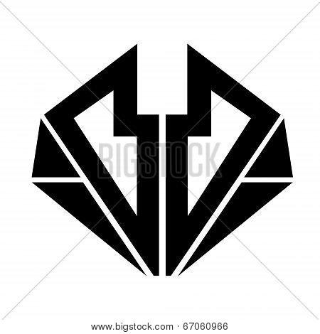 Simple black silhouette, sign, symbol. Universal.