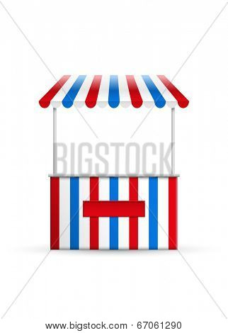 Vector illustration of a stall.