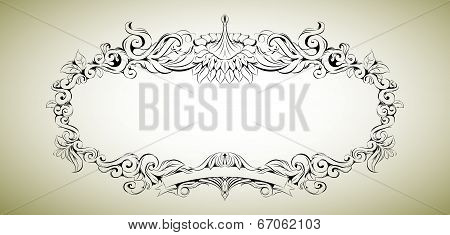 Vector frame with floral elements for registration 3