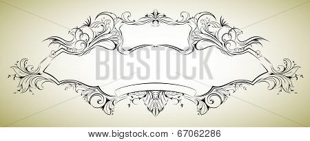 Vector frame with floral elements for registration 6