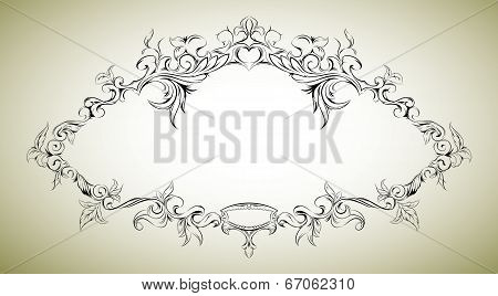 Vector frame with floral elements for registration 8