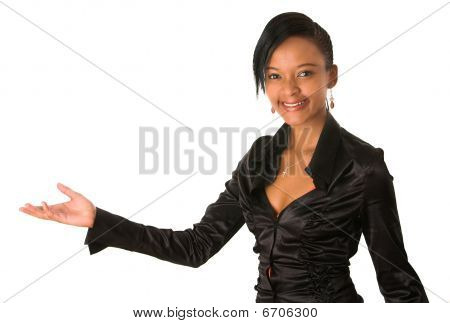 African Lady Holding Hand Outstretched