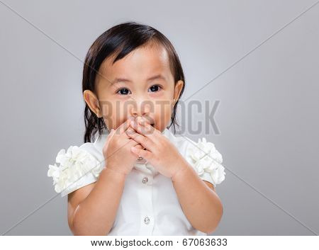 Multiracial baby keep quiet
