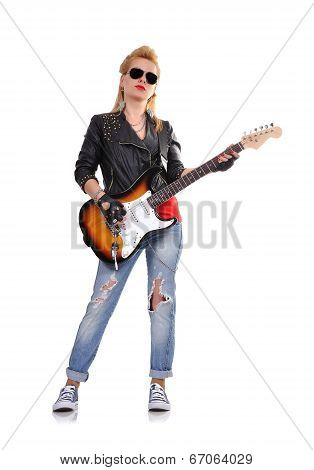 Young Rock-n-roll Girl