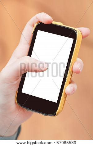 Cut Out Screen Of Smartphone