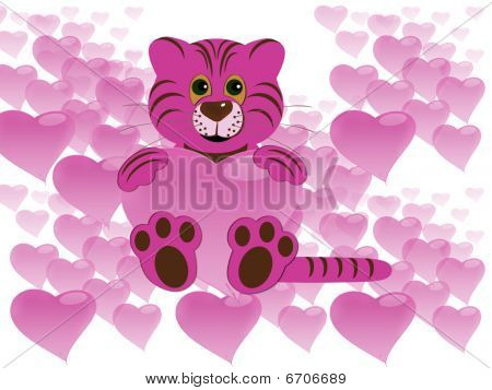 Tiger with heart