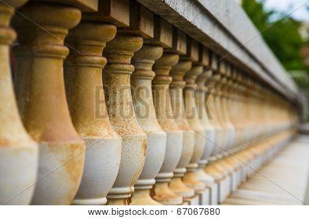 Old Stone Balustrade