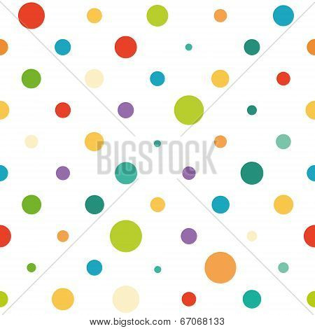 Vector seamless spotted pattern
