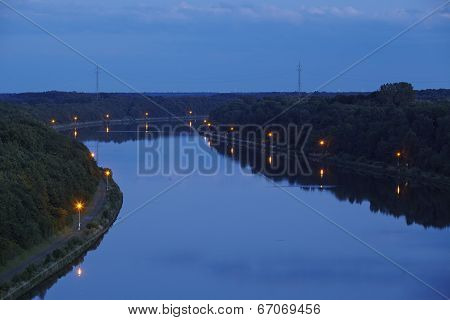 Beldorf - Kiel Canal In The Evening