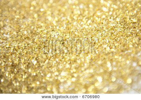 Gold Glitter Close Up