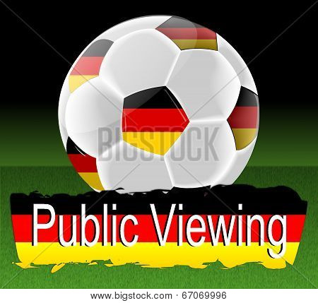 Public viewing -Soccer ball with german flag