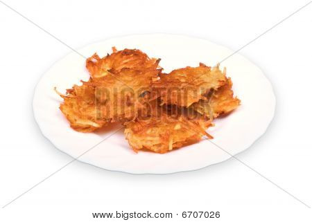 Potato Fritters On Plate